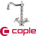 View Item Caple Antique Chrome Twin Handle Traditional Kitchen Sink Mixer Tap ANT3/CH